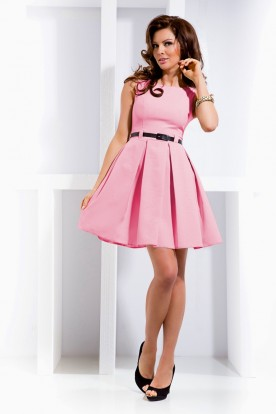 Dress with contrafold - Pink 6-5