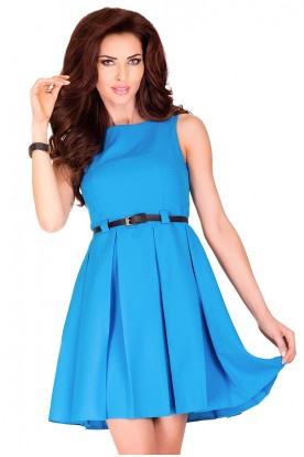 Dress with contrafold - blue 6-7