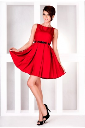 Dress with contrafold - Red 6-11