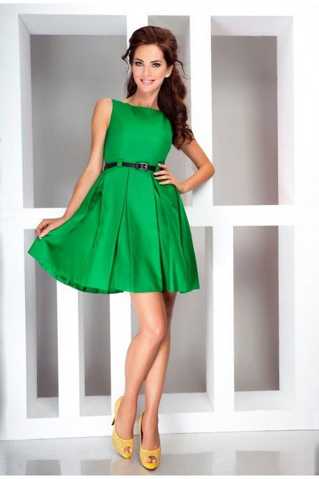 Dress with contrafold - Green 6-12