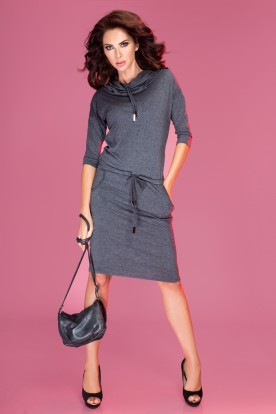 Sports dress with binding - Gray 44-1