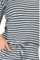 Sporty dress - gray stripes 13-11