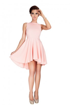 Lacosta - Exclusive dress with longer back - peach 33-1