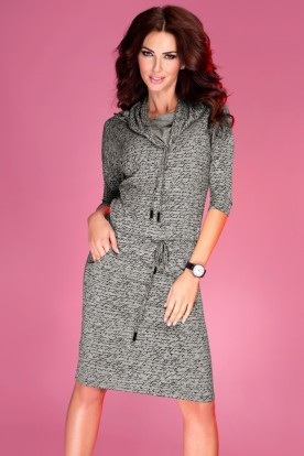 Sports dress with binding - gray 44-9