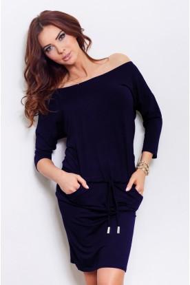 Sporty dress - Navy Blue13-15