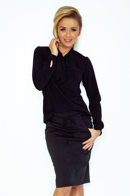 Blouse with bond - black 140-5