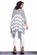 Stilingas pilkai-baltas megztinis