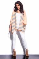 Stilingas pilkai-rausvas megztinis