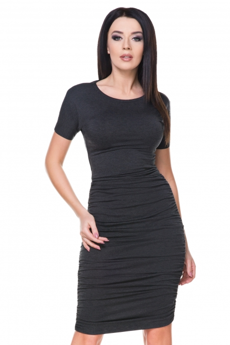 Elegantiška tamsiai pilka suknelė